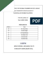 NEP-Economic Impact Global Worming