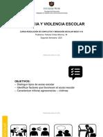 Violencia y violencia escolar 2021