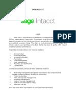 Sage Intacct, AccountEdge Pro