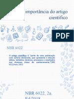 A importância do artigo científico