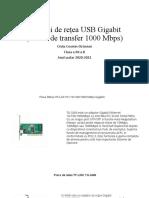 10 plăci de rețea USB Gigabit