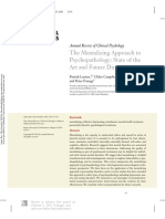 The mentalizing approach to psychopathology. state of the art and future directions