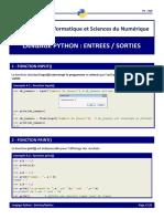 2 Python Entrée Sorties