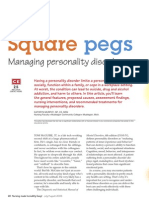 Square Pegs Managing Personality Disorders