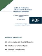 Introduction du Module Fiscalité seance 1
