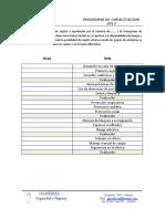 Programa de capacitacion modelo