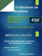 Estruturas de Madeira - Aula 2 (Metodos de Calculo) - Unicamp