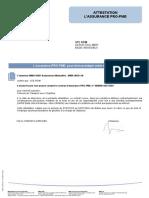 Attestation de RC Professionnelle Rtim 1