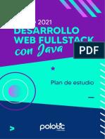 PLAN de ESTUDIO Desarrollo Web Fullstack Con Java