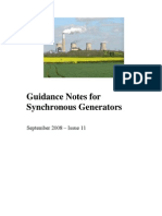 Guidance Notes for Synchronous Generators Grid Connection