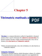 5. Titrimetric Methods of Analysis