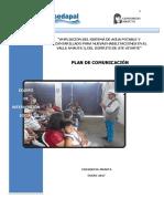PLAN DE COMUNICACIÓN - ENERO 2017