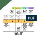 HORARIO IV CICLO