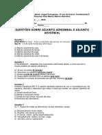 Lista de Exercícios - Adjunto Adnominal e Adjunto Adverbial (1)