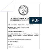 11018 - Plan 2016 Historia de la educacion latinoamericana Prof Rodriguez.