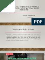 Slide Da Disciplina de Metodologia Dos Ensinos Afro-Brasileiros, Da Diáspora e Povos Africanos (1)