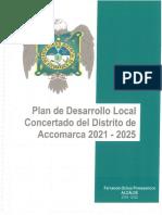 PLAN DE DESARROLLO LOCAL CONCERTADO DEL DISTRITO DE ACCOMARCA PERIODO 2021 – 2025