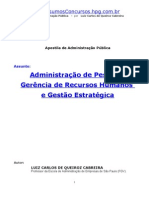 Administração de Pessoal, Gerência de Recursos Humanos e Gestão Estratégica - Luiz Carlos de Queiroz Cabreira -