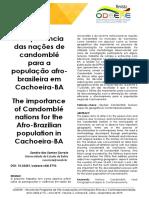 A importância das nações do candomble oara a população afro-brasileira Sandro Correia