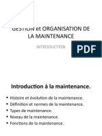 Gestion Et Organisation de La Maintenance