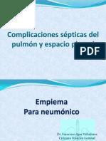 Complicaciones sépticas del pulmón y espacio pleural