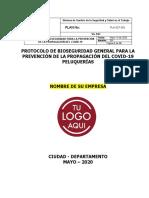 Protocolo de Bioseguridad Peluquerías