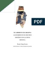 EL LABERINTO DE ARIADNA LAS MUJERES EN EL DISCURSO HISTÓRICO DE LA CRETA MINOICA. Rosario Ortega Serrano.