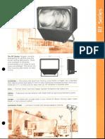 LSI RF Series Floodlight Spec Sheet 1981