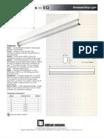 LSI Esquire Series Fluorescent Spec Sheet 1990