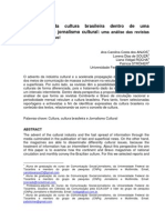 Expressões da cultura brasileira dentro de uma perspectiva do jornalismo cultura - uma análise das revistas Continente e Bravo!
