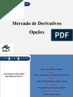Mercado de Derivativos - Opções MANUAL