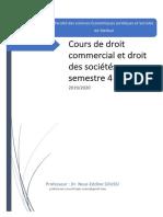 101Hyt-Première Partie Droit Commercial Prof Soussi Semestre 4 Ecomnomie Gestion