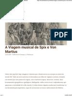 A Viagem Musical de Spix e Von Martius | Musica Brasilis