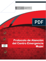 MIMP Protocolo de Atencion Del Centro Emergencia Mujer