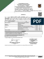 Certificados de Daniel Guillermo Morales Serrano Grados 8,9