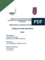 CODIGOS DE FALLAS AUTOMOTRIZ