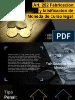 Art. 252 Falsificacion de Billetes (1) (2)