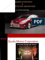 Planning Strategy & Competetive Advantage of Toyota Motors
