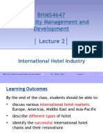 BHMS4647 - Lecture 2 - International Hotel Industry