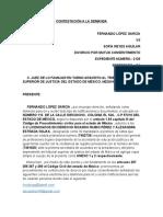 CONTESTACIÓN DE LA DEMANDA- ALEXANDRA E.R