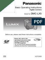 Panasonic DMC-LX5 _ Basic Operating Instructions