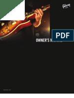 Gibson Guitars USA Owners Manual