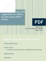 B12 the Implementation Application of CORAL-An Open Source ERM System