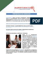 Port a Folio de Servicios de Estudios de Seguridad a Empresas y Personas