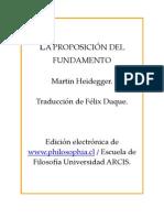 Heidegger - La proposicin del fundamento