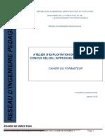 Cahier Du Formateur. Exploitation Des Programmes APC.version