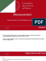 Introduzione ai microcontrollori e DSP