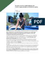 Como afecta la escases de agua a la pandemia