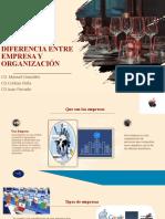 DIFERENCIA ENTRE EMPRESA Y ORGANIZACIÓN