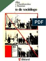 Bordieu El Oficio Del Sociologo